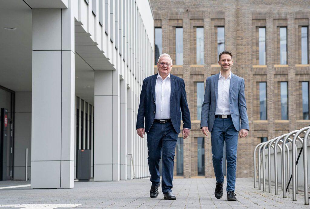 Joachim (li.) und Dennis Jaunich